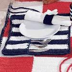 http://www.favecrafts.com/Crochet/Rolling-Place-Mats-Crochet-Pattern