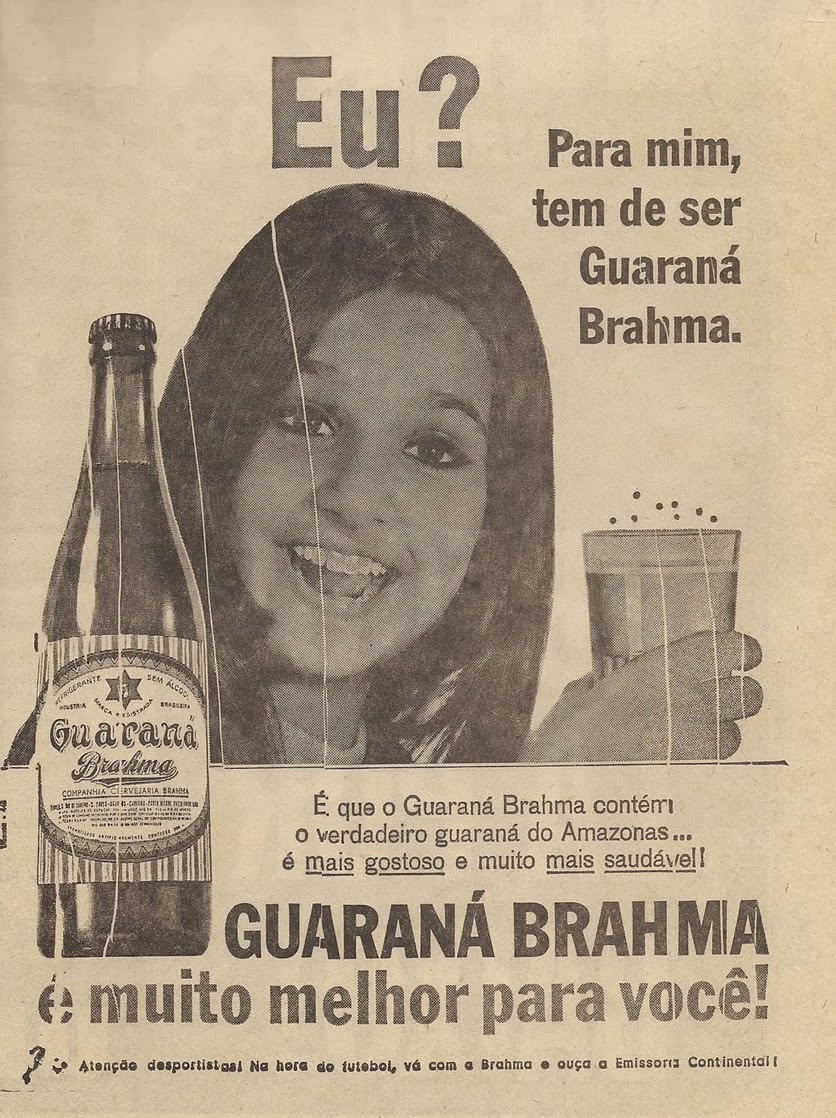 Propaganda do Guaraná Brahma em 1969.