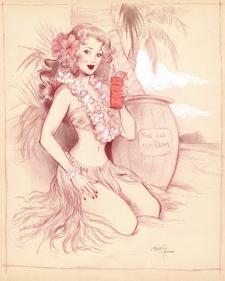 sketch pin up girl