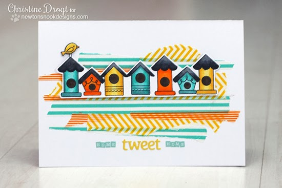 Tweet Talk Birdhouse card by Christine Drogt for Newton's Nook Designs