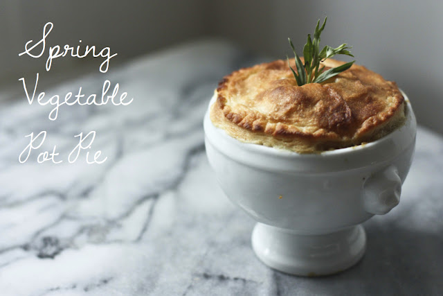 Chicken And Spring Vegetable Potpies Recipe — Dishmaps