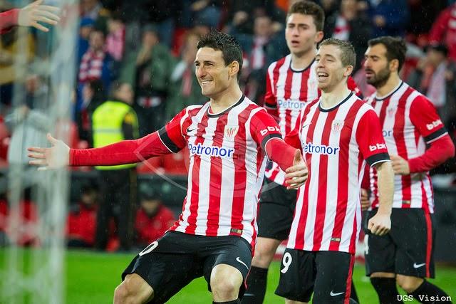 Jugadores del Athletic de Bilbao celebrando un gol