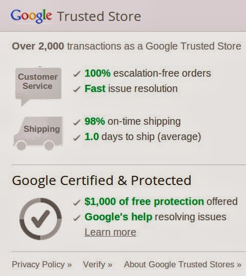Google Trusted Store Badge