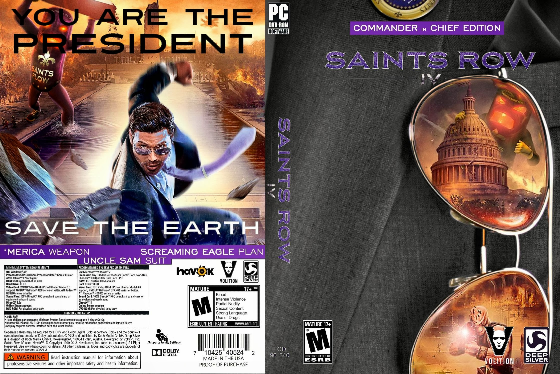 Capa Saints Row IV Commander In Chief Edition PC