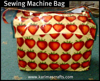 sewing machine bag handmade