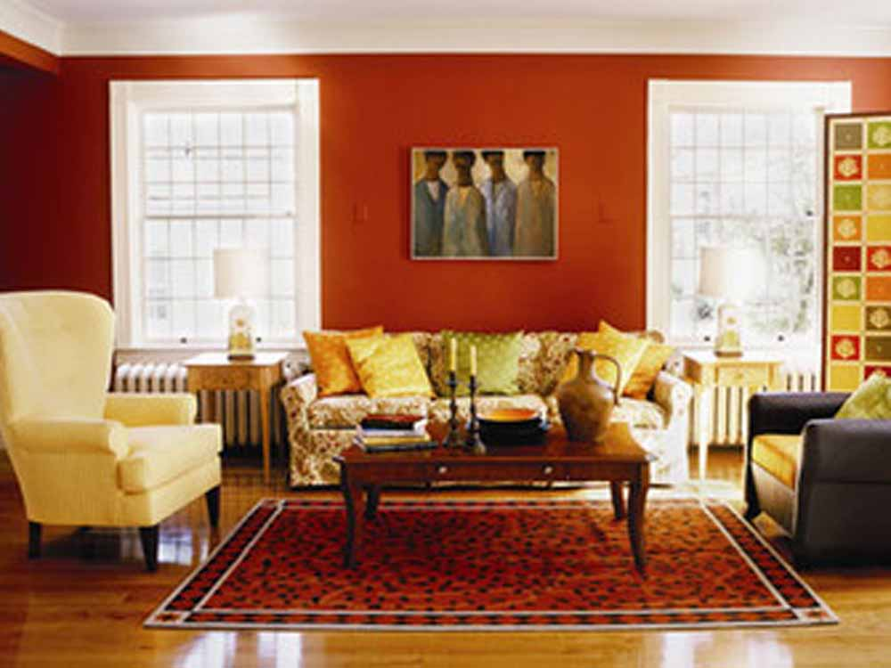 Wall Decorating Ideas For Living Rooms : Home office designs living room decorating ideas