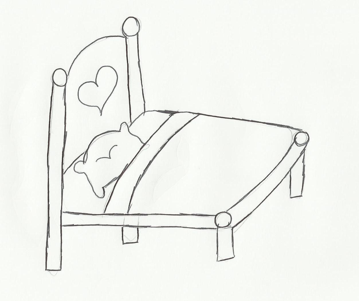 Desenho de cama para colorir - <center>Gifs e Desenhos</center>
