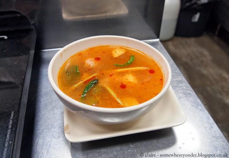 Hot and sour prawn soup - Pum Cooking School, Thailand