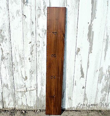 DIY Ruler Growth Chart with Homemade Vinegar Stain