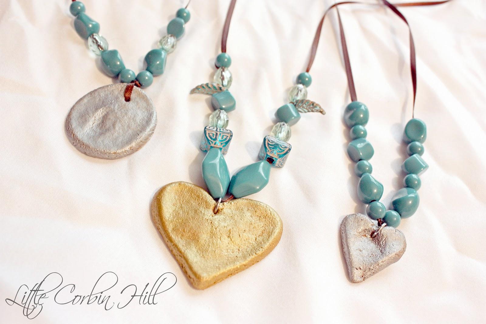 Little corbin hill mothers day salt dough necklaces aloadofball Choice Image