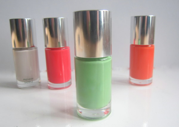 Clinique A Different Nail Enamel For Sensitive Skin: Hula Skirt, Concrete, Summer In The City, Juiced Up