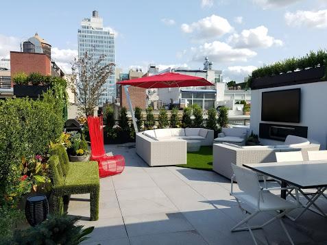 Penthouse Terrace Rooftop Garden by NewYorkPlantings