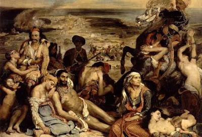 """Γνωρίζεις τον ρόλο των Εβραίων στην Σφαγή της Χίου;;; """"οι Εβραίοι δεν συνεκινούντο προ των γυμνών κρεμασμένων Ελλήνων,αλλά κατεκομμάτιαζαν τα σώματα αυτών,ως κρέας εις σφαγείον"""""""