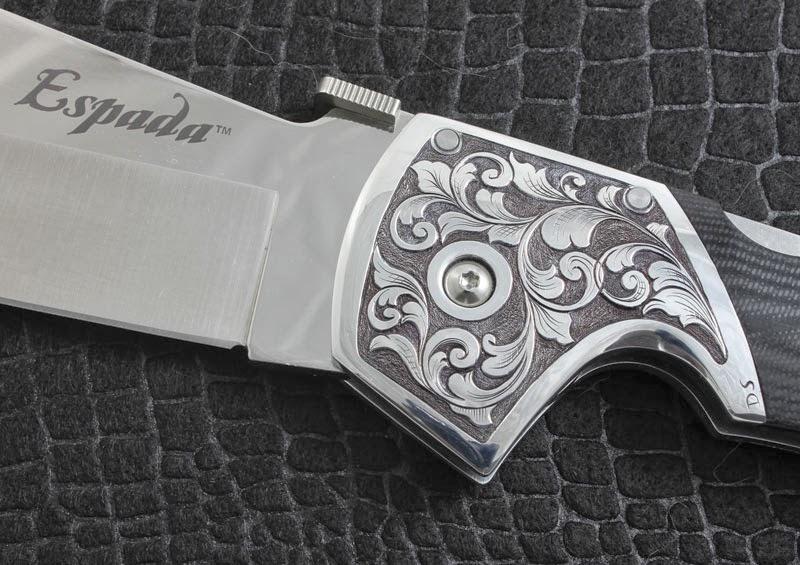 couteau Cold Steel Espada gravure main sur mitre