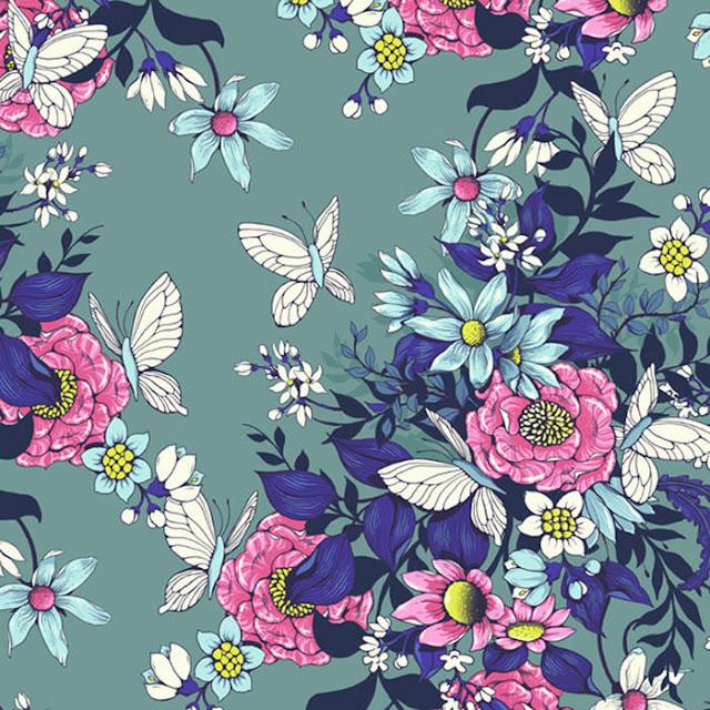 Cara Desain Pola Floral untuk Kain