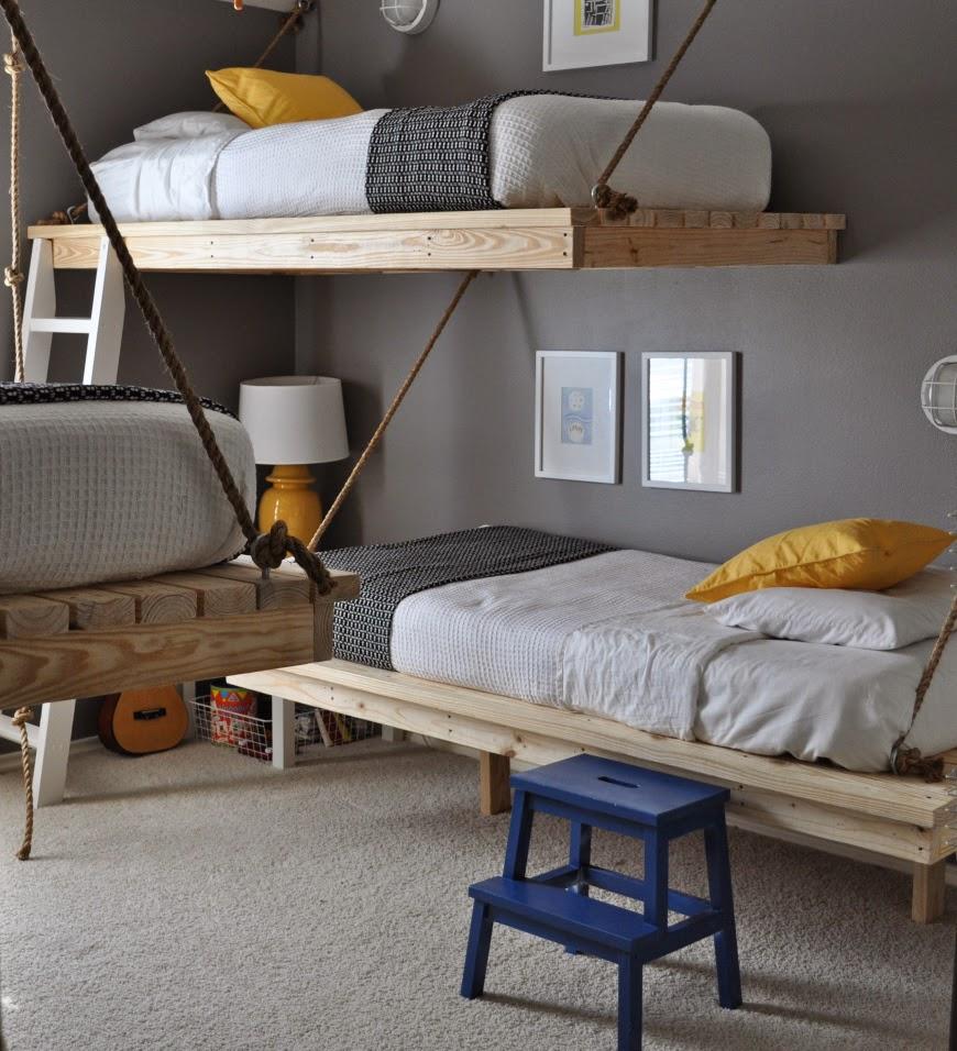 Dormitorio compartido con literas handmade3