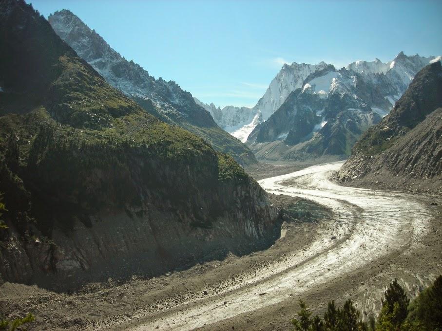 Vista-del-glaciar-La-Glace-de-Mer