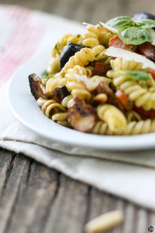 Fresh Basil Pesto and Vegetable Pasta Recipe