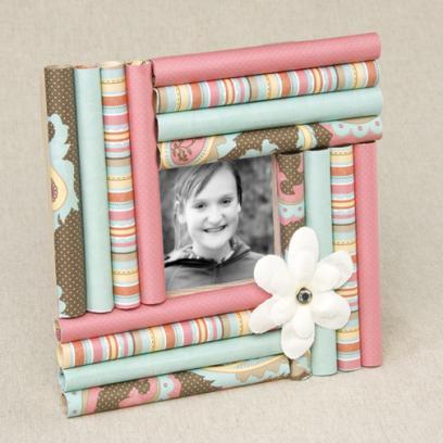 Marcos para fotos con cart n portal de manualidades - Diy marcos para fotos ...