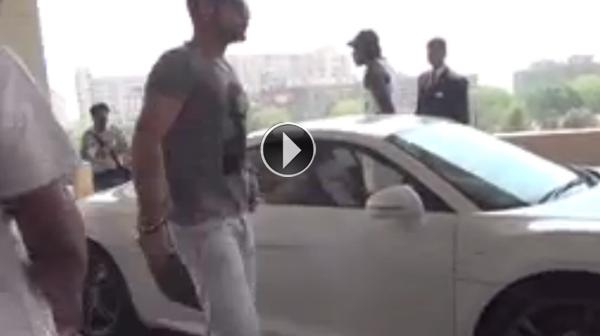 Watch Virat Kohli drives Chris Gayle around Delhi in his Audi R8    Virat Kohli With His Audi R8