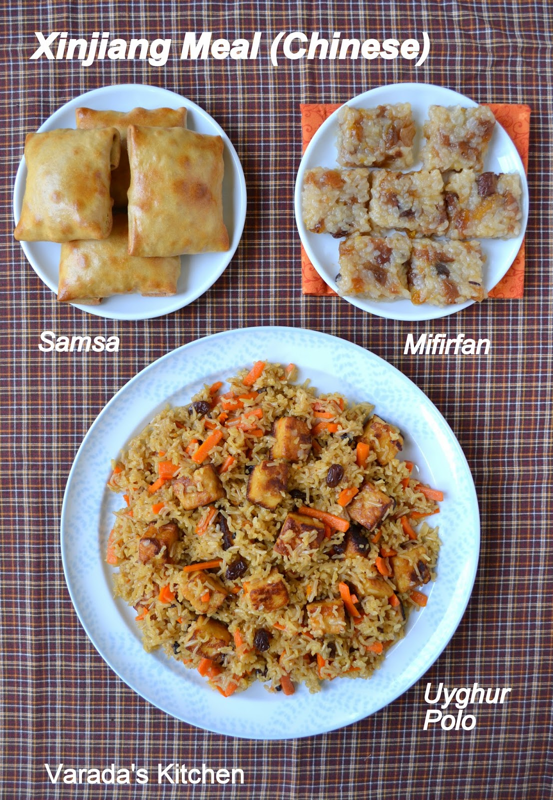 Varadas kitchen xinjiang chinese meal for dessert i made a sweet rice called mifirfan fan is rice in the local language in this dish the rice is sweetened with apricots and raisins along forumfinder Choice Image