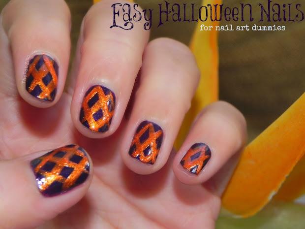 easy halloween nails nail art
