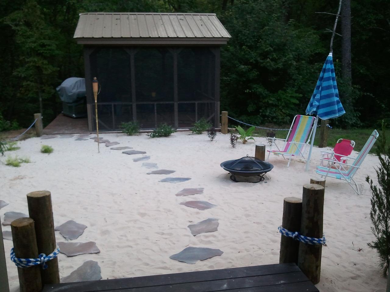 backyard beach hall