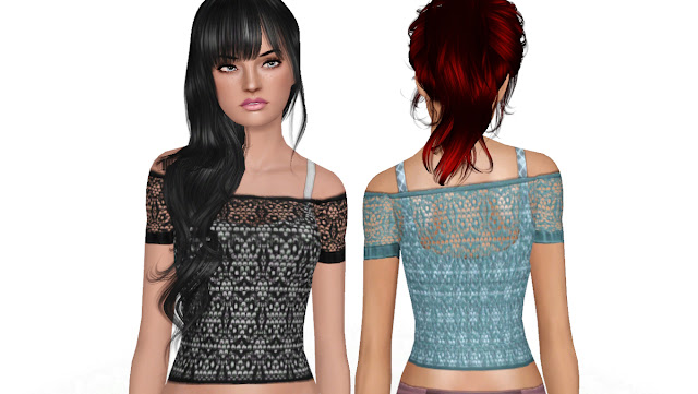 Crocheted Off-Shoulder Female Shirt by NyGirl Crocheted+Off+Shoulder2