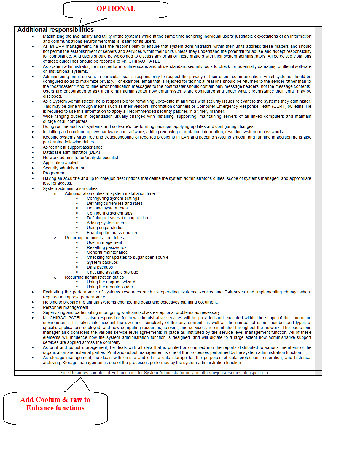 fresh jobs and resume samples for jobs cv for system cv for system administrator pg 2
