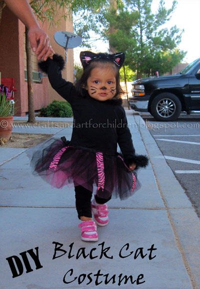 DIY Black Cat Tutu Costume for girls
