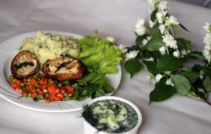 polski obiad, obiad, kurczak, filet, lunch idea