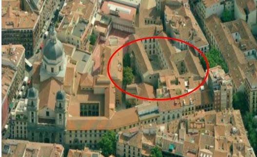vista area del palacio de la duquesa de sueca segn google