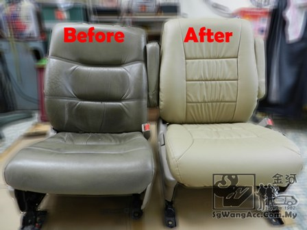Before And After Installing This PVC Leather Car Seat Cover