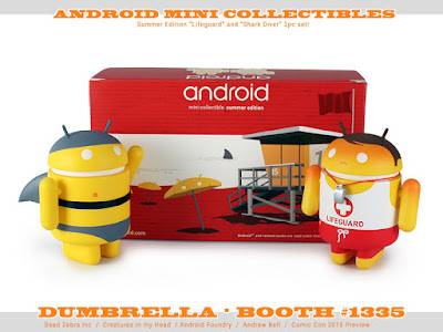 San Diego Comic-Con 2015 Exclusive Summer Edition Android 2 Piece Box Set by Andrew Bell - Lifeguard & Shark Diver