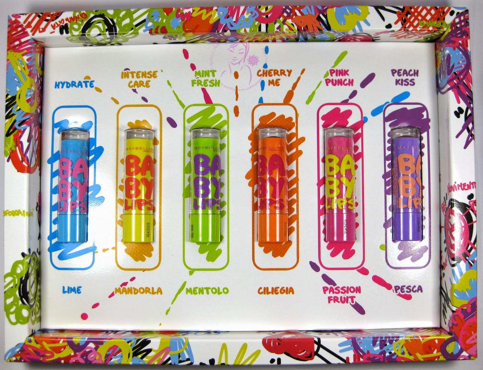 Maybelline - Baby Lips n° 01, 02, 03, 04, 05, 06 - packaging