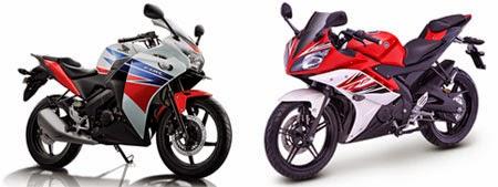 Adu Kecepatan Yamaha R15 vs Honda CBR150R