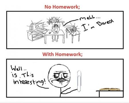 No homework essays