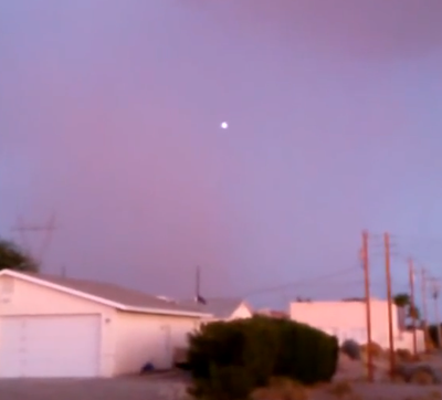Latest UFO Sightings White Glowing UFO Captured Above Arizona