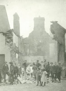 Devitt's Shop, Ennistymon. James Devitt's drapery shop, Main Street, Ennistymon after the sacking of Ennistymon by British Forces on September 22nd 1920.