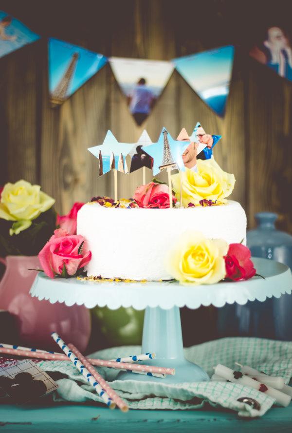 DIY Geburtstagsdeko aus Fotos