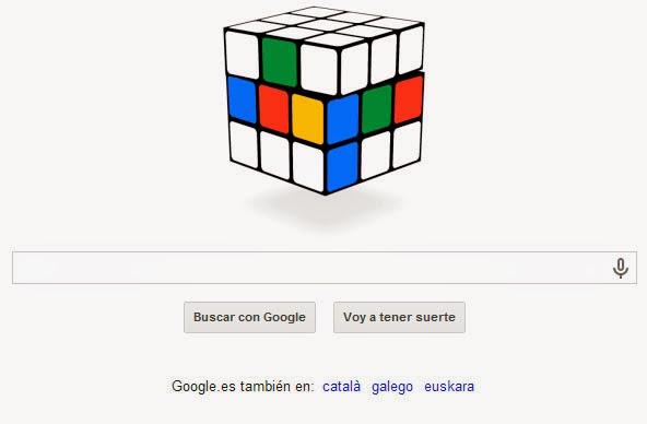 40º Aniversario del cubo de Rubik Doodle Google