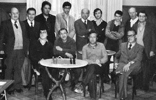 Participantes en el III Campeonato Abierto de Ajedrez de Gerona en 1980