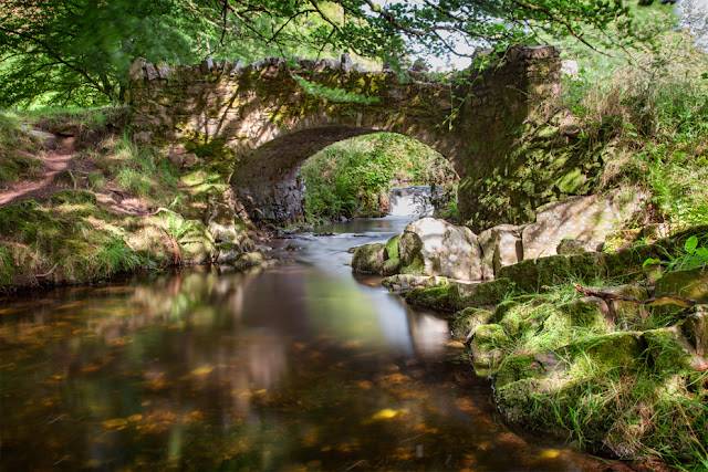 Robbers Bridge in the Doon Valley in Exmoor by Martyn Ferry Photography
