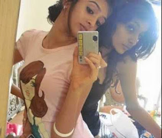 mirror self shot Latina girls black hair India Bollywood actress
