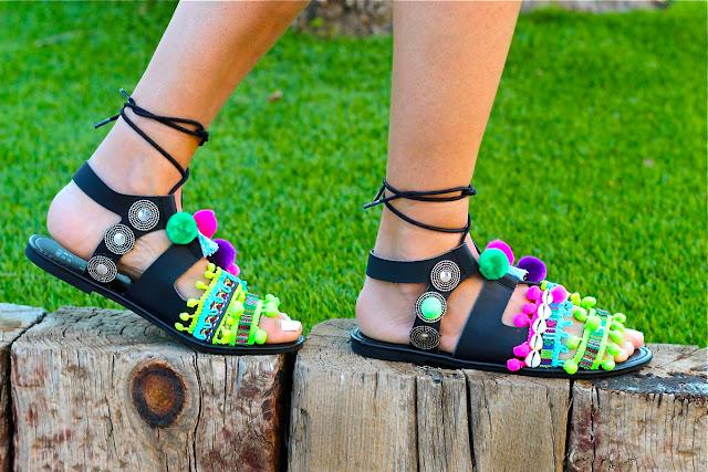 sandalias gladiadoras DIY