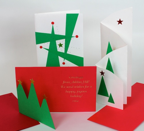 Contemporary Christmas Designs ashbee design: diy christmas cards • trees as a theme