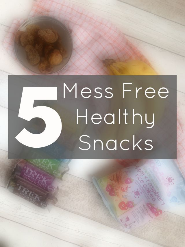 5 Mess-Free Healthy On The Go Snacks Snacks