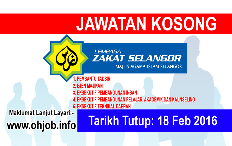 Jawatan Kerja Kosong Lembaga Zakat Selangor (MAIS) logo www.ohjob.info februari 2016