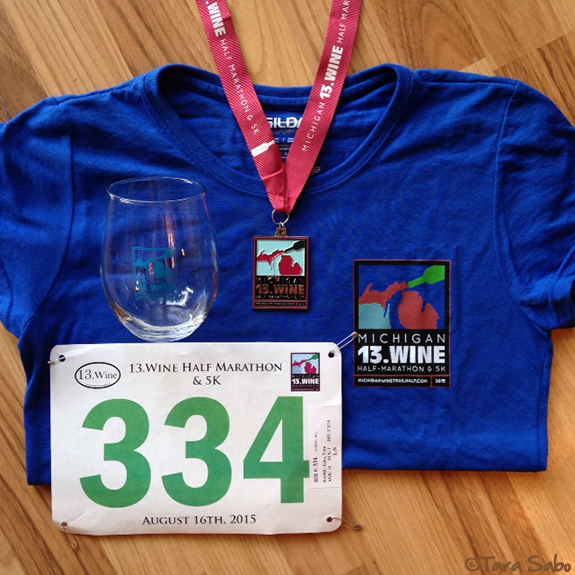 run Michigan, pure Michigan, Southwest Michigan, Wine Glass, race bib, race bling, 13.wine