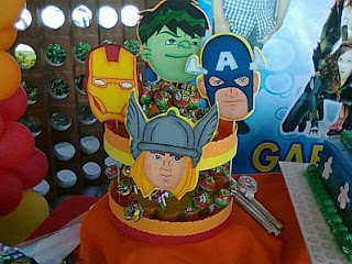 Decoracion Fiestas Infantiles Los Vengadores, Centros de Mesa